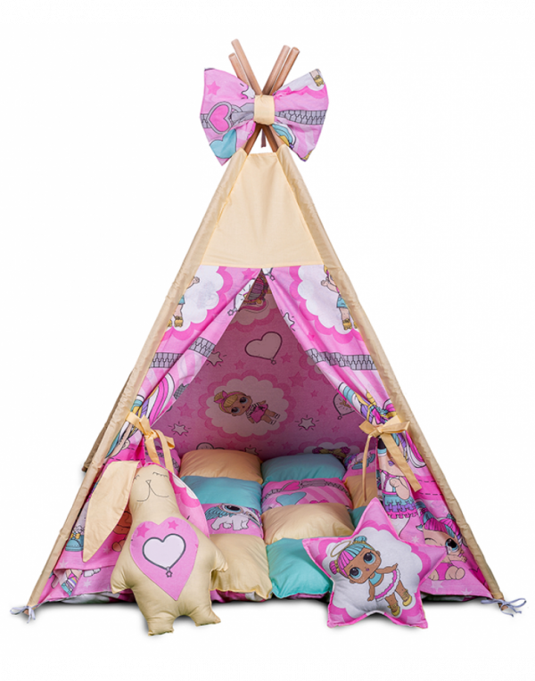 Вигвам Хатка комплект «Куклы с подушками»