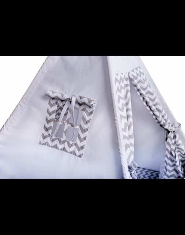 Вигвам Хатка комплект «Серый зигзаг» с подушкой