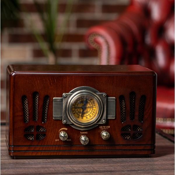 Радиоприемник Daklin «Де Голль», дерево, орех