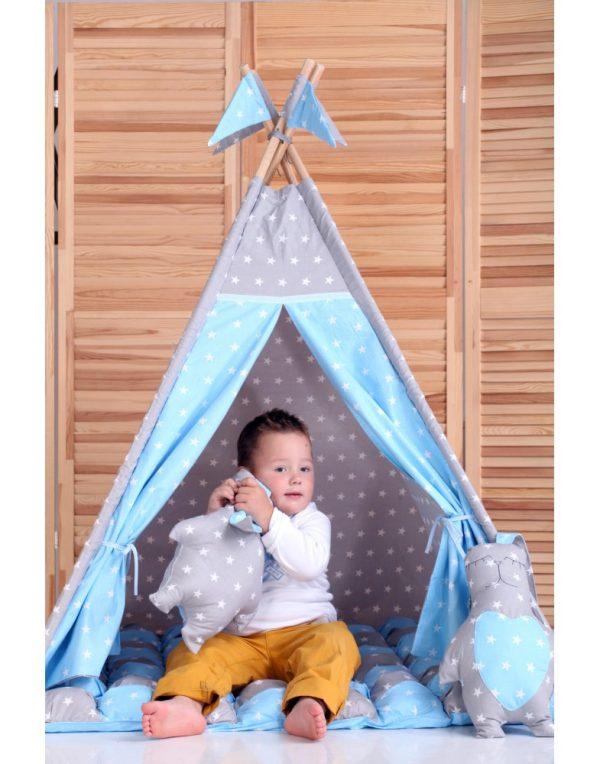 Вигвам Хатка комплект бонбон «Принц»  с подушками