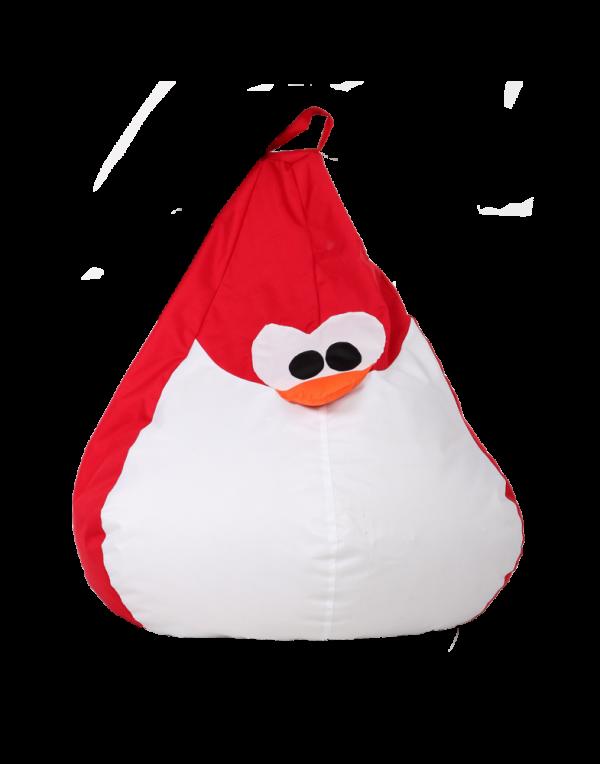 Кресло-мешок «Королевский Пингвин» средний, красный