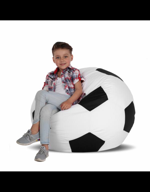 Кресло-мяч средний, белый с черным