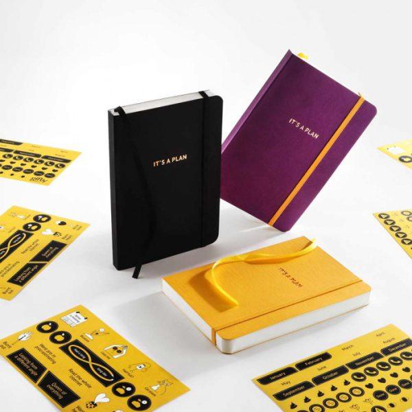 Блокнот для планирования Gifty «It's a plan» (желтый)