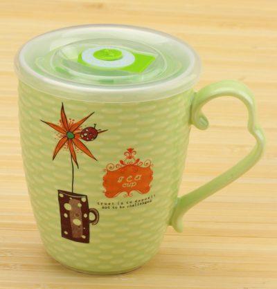 Чашка заварочная «Цветок с таймером» (салатовая)
