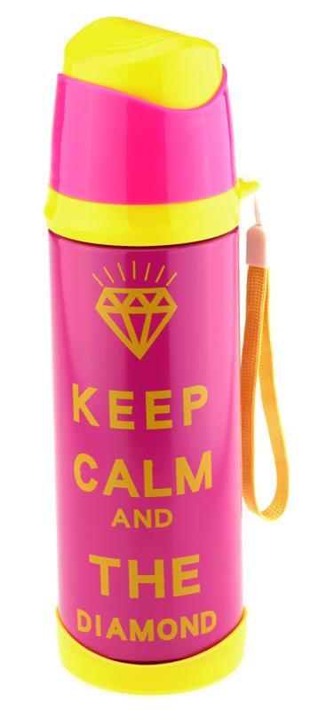 Термос Keep calm (розовый)