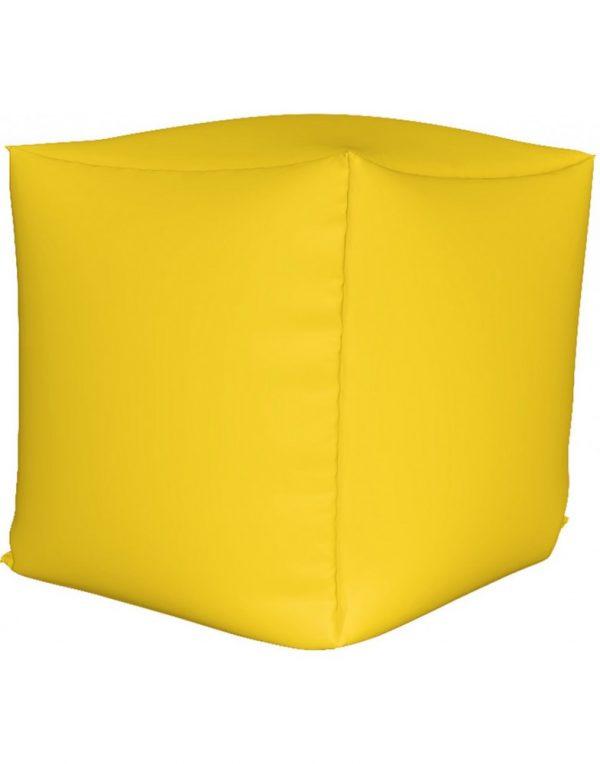 Пуф куб, желтый