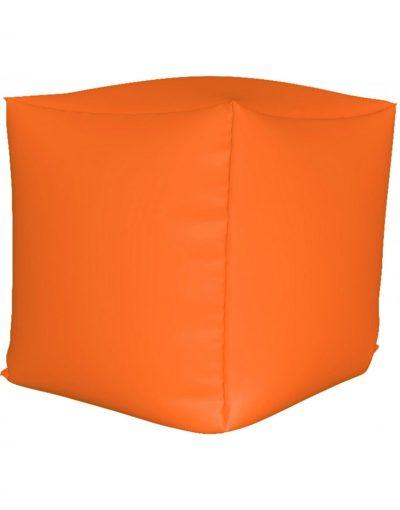 Пуф куб, оранжевый