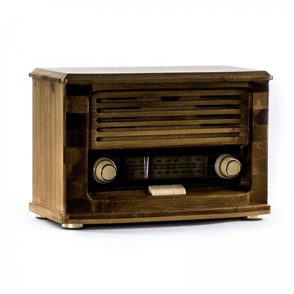 Радиоприемник ретро «Малыш» FM-радио, бамбуковый корпус