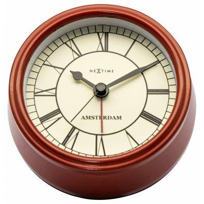 Часы настольные «Small Amsterdam Red» ø11 см
