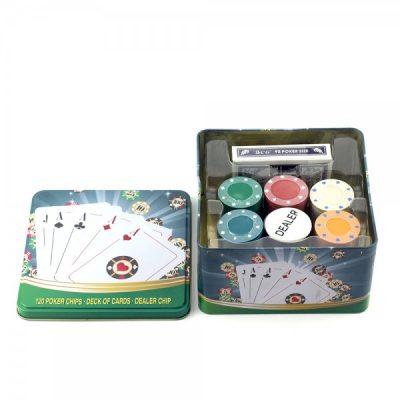 Покерный набор в жестяной коробке