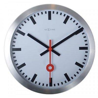 Часы настенные «Station», белые Ø19 см