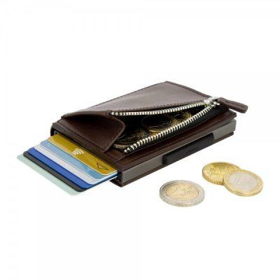 Бумажник на молнии OGON Cascade, коричневый