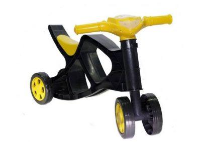 Детский беговел-минибайк Doloni Toys (черно-желтый)