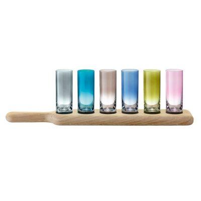 Набор рюмок для водки Paddle, цветные,70 мл