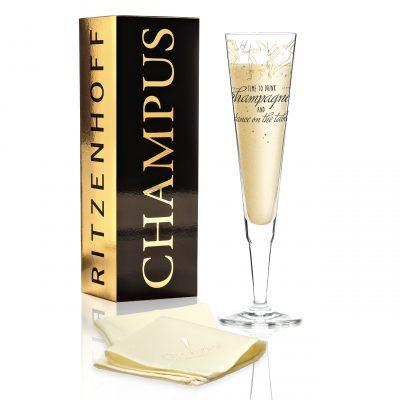 Бокал для шампанского от Natalia Yablunovska (Время пить шампанское) 205 мл