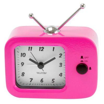 Будильник «Retro TV», розовый