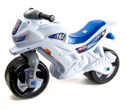 Мотоцикл-толокар Орион (белый) со звуковыми эффектами