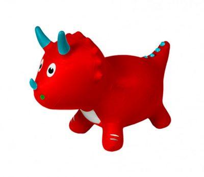 Детский прыгун-динозавр (красный)