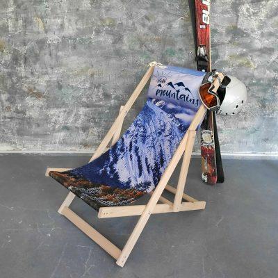 Шезлонг деревянный «Hello, mountains»