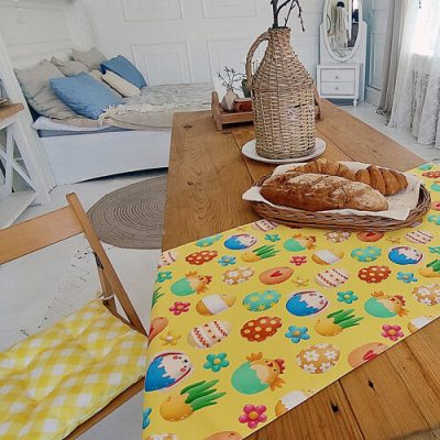 Дорожка на стол (раннер) «Пасхальные яйца»