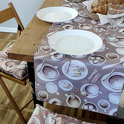 Дорожка на стол (раннер) «Столовый сервиз»
