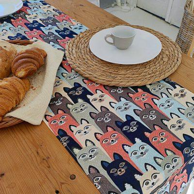 Дорожка на стол (раннер) «Коты»