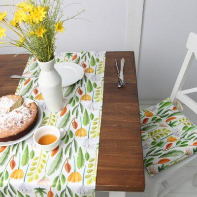 Подушка на стул с завязками «Цветочное настроение »