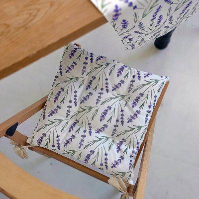 Подушка на стул с завязками «Лаванда»