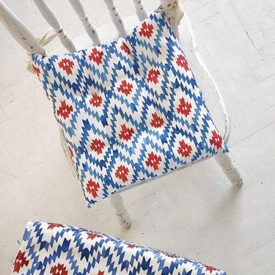 Подушка на стул с завязками «Этно орнамент»