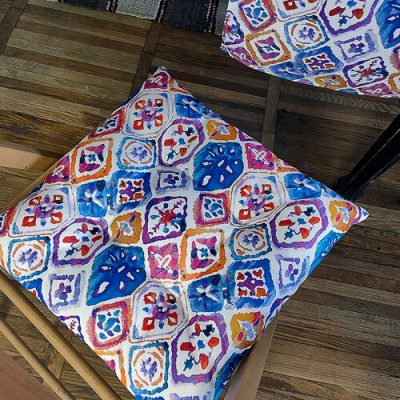 Подушка на стул с завязками «Etno ornament »