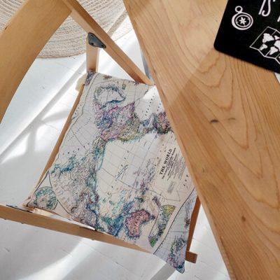 Подушка на стул с завязками «Карта»