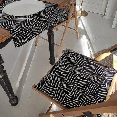 Подушка на стул с завязками «Ромбовидный орнамент»