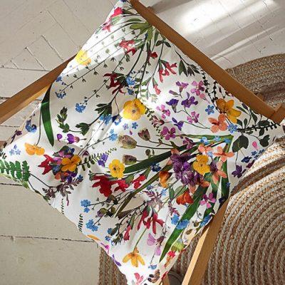 Подушка на стул с завязками «Полевые цветы»