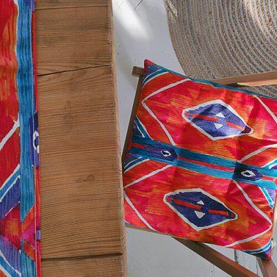 Подушка на стул с завязками «Этно стиль»