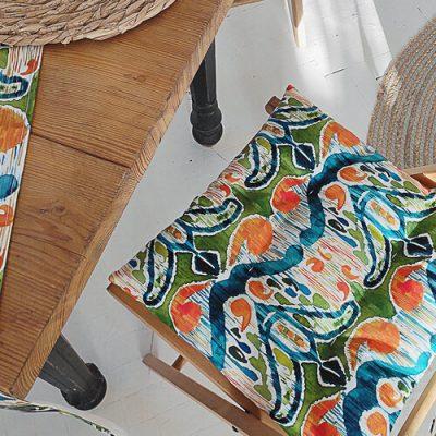 Подушка на стул с завязками «Этно узор»