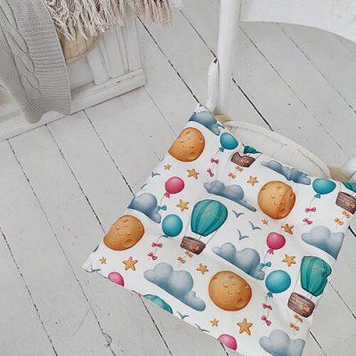 Подушка на стул с завязками «Шары»