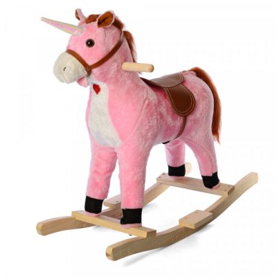 Детская качалка-единорог со звуком «Метр+» (розовая)