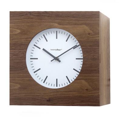 Часы настенные Balvi Qubo, коричневые