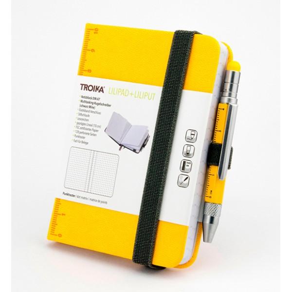 Блокнот Din A7 Lilipad + ручка Liliput, желтый