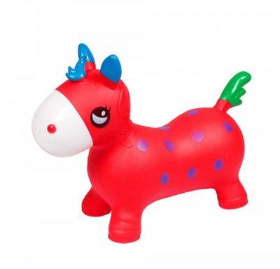 Детский прыгун-лошадка (красный)