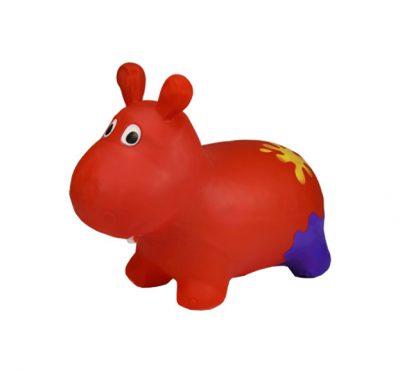 Детский прыгун-бегемот (красный)