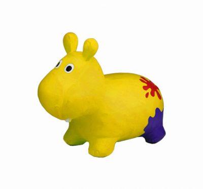 Детский прыгун-бегемот (желтый)
