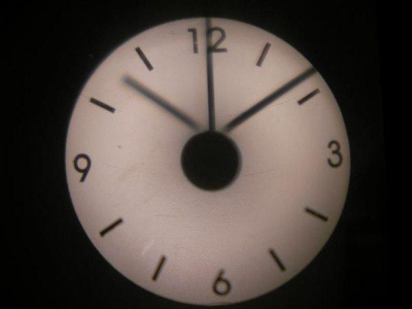 Часы проекционные прозрачные 18х18 см