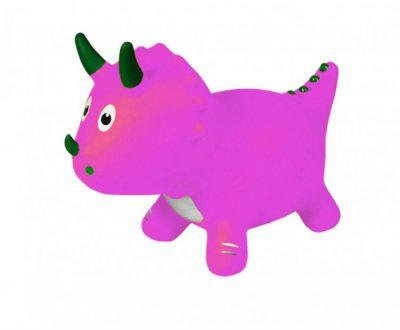 Детский прыгун-динозавр (розовый)