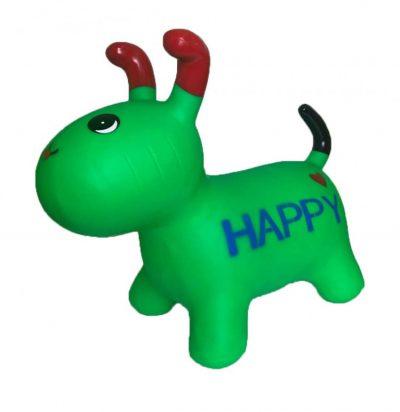 Детский резиновый прыгун-собака (зеленый)