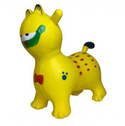 Детский резиновый прыгун-котик (желтый)