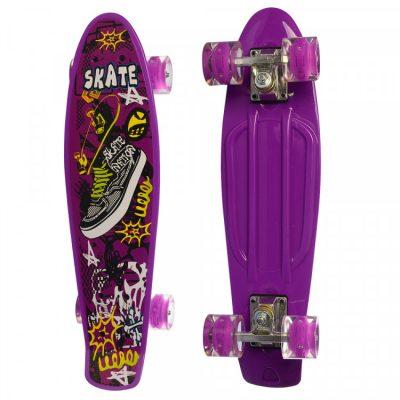 Детский скейт Profi с рисунком (MS 0749-5/фиолетовый)