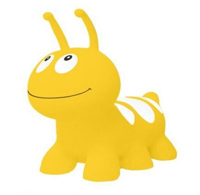 Детский резиновый прыгун-гусеница (желтый)