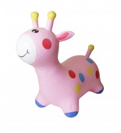 Детский резиновый прыгун-жираф (розовый)