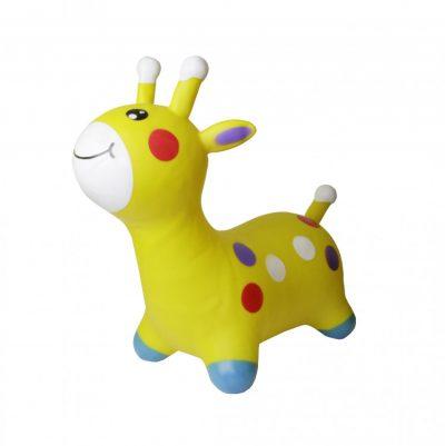 Детский резиновый прыгун-жираф (желтый)